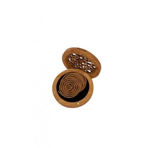 مبخرة ذكية بتصميم أنيق خشبي دائري